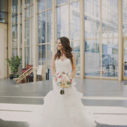 Bridal portrait in founders hall