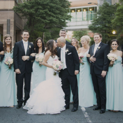 Wedding Party in uptown charlotte.