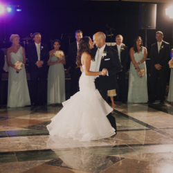 Bride and groom first dance at Founders Hall.