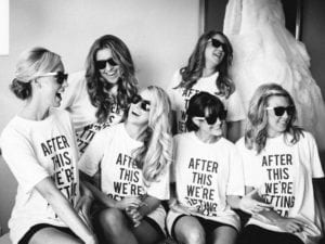 Bring the fun to getting ready in these adorable graphic tees perfect for you bridal party before the big day