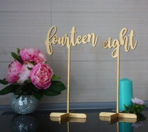 Tall and elegant table numbers