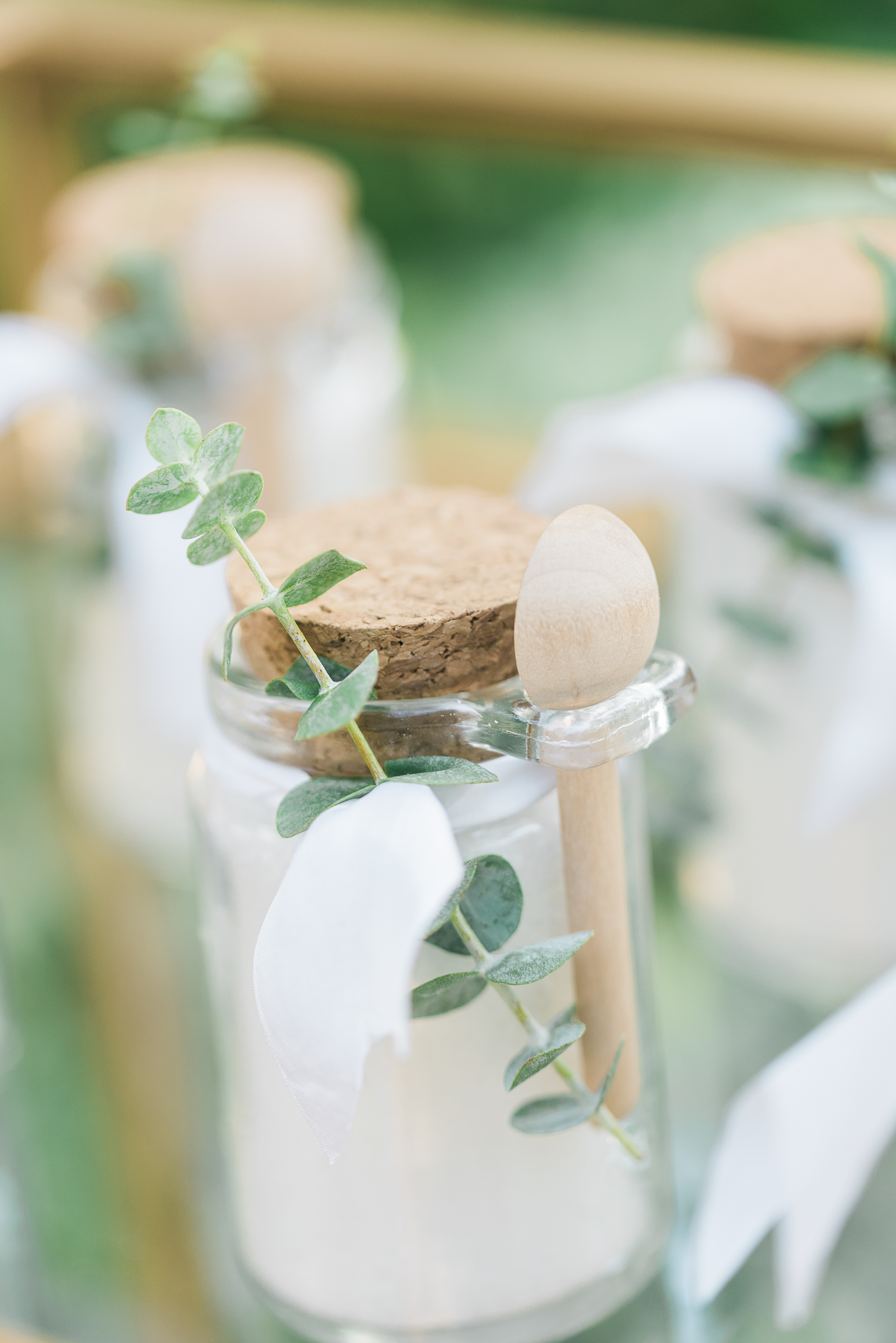 Wedding Favor Ideas - bath salts with little spoon.