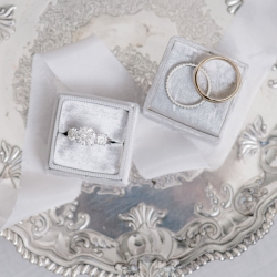 Bridal jewelry are the perfect accents for a fall wedding at Foundation for the Carolinas