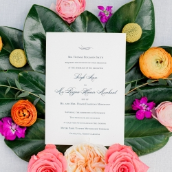 Wedding invitation and lush flowers from Flower Diva are the perfect subject for a fall wedding captured by Sunshower Photography