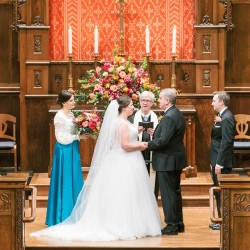 Myers Park United Methodist Church is the perfect setting for a fall wedding in Uptown Charlotte, North Carolina