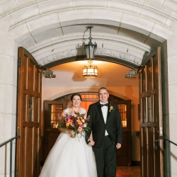 Sunshower Photography captures a bride and groom after exchanging vows at Myers Park United Methodist Church