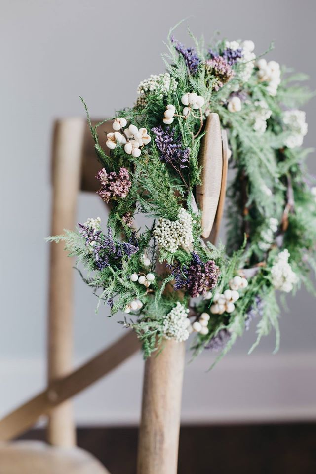 floral crowns with purple