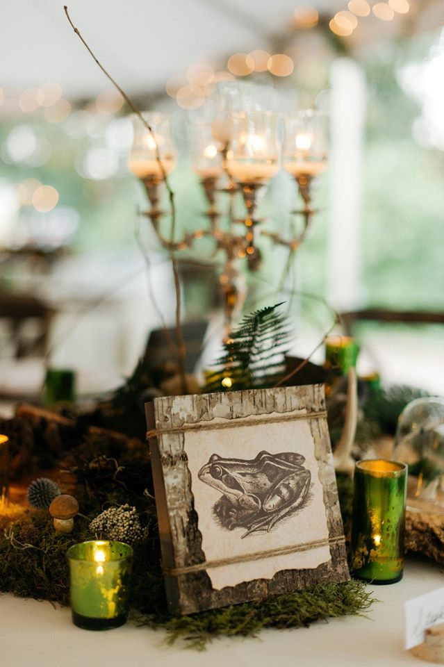 woodland themed wedding centerpieces