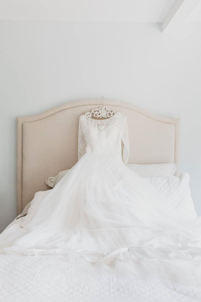 wedding portrait of a bridal gown