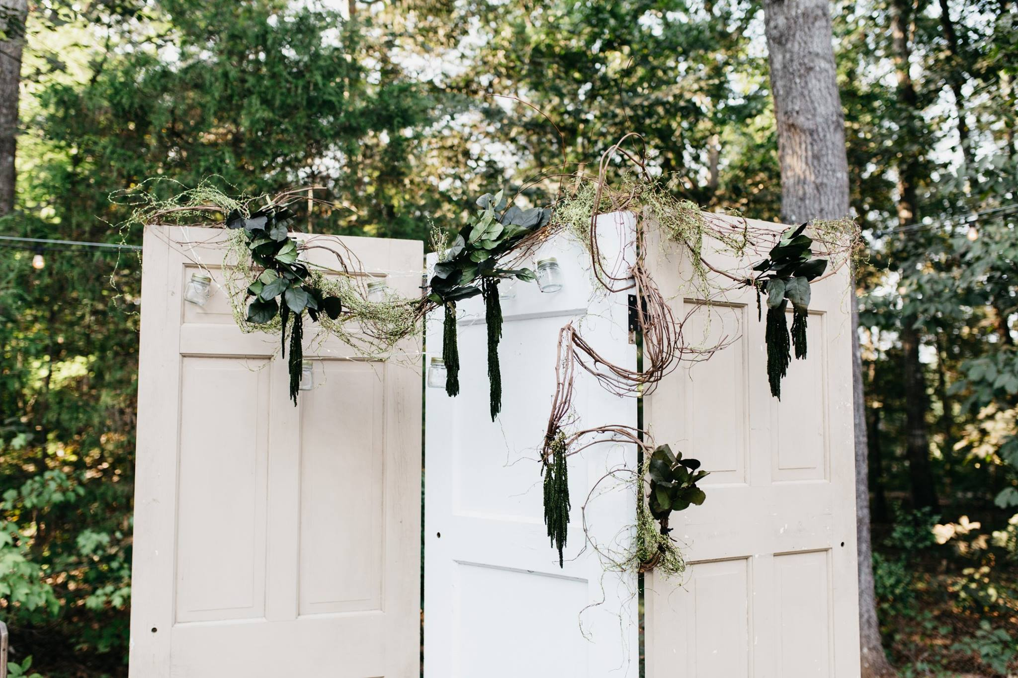 white doors for wedding decorations