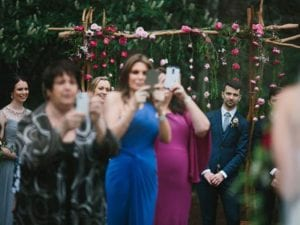 Wedding ceremony ruined by cellphone photography
