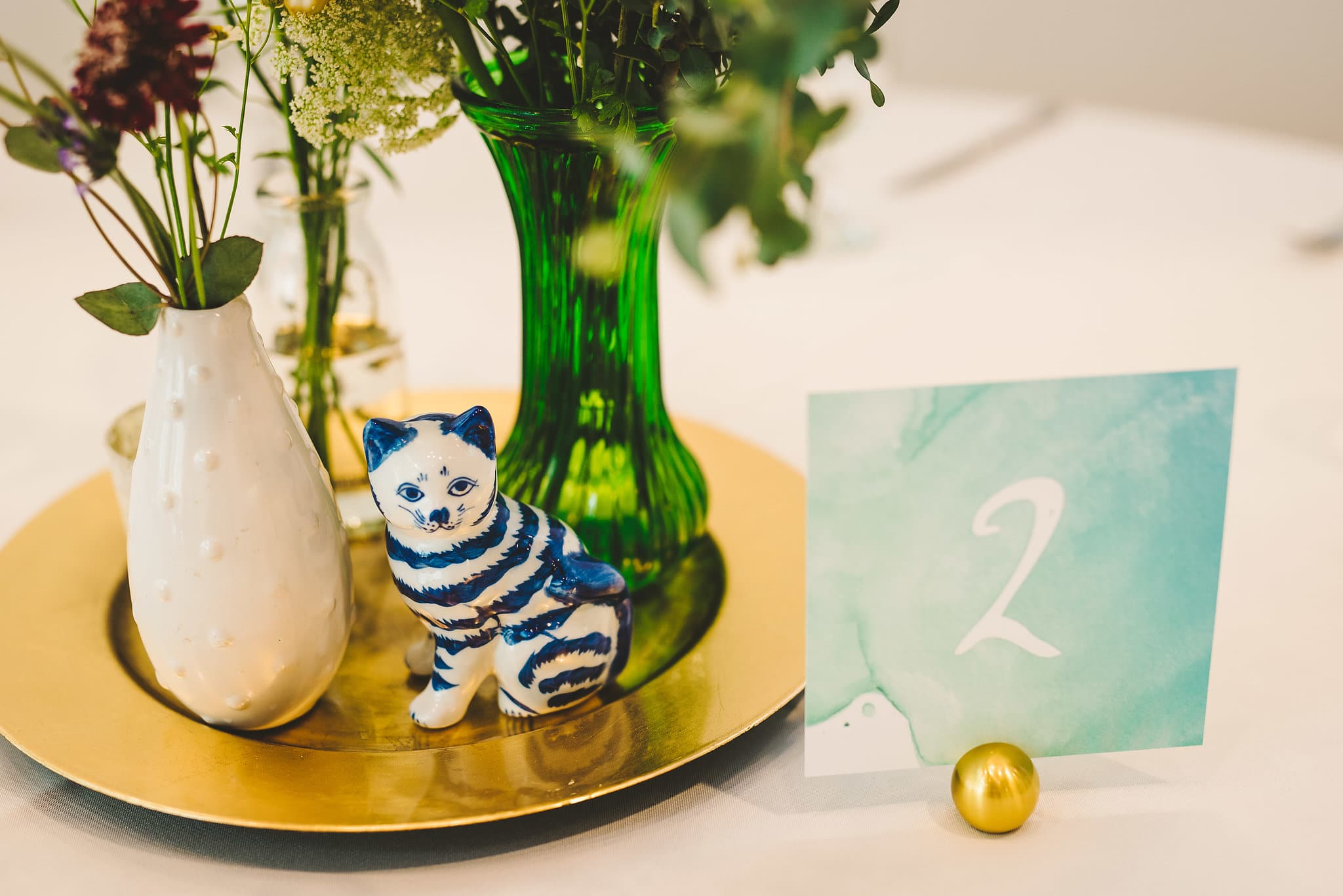water color wedding table number