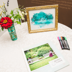water color guest book sign