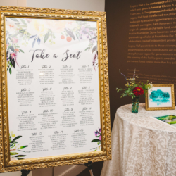 Floral water color table chart
