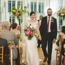 Wedding ceremony at Foundation for the Carolinas in uptown Charlotte, NC