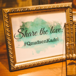 share the love hashtag wedding sign