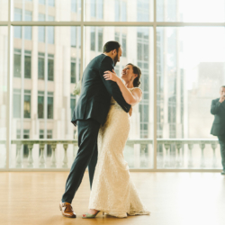 bride and groom dancing during their first dance