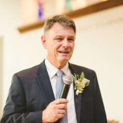 father of the bride giving a welcome speech